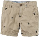 Carter's Baby Boy Embroidered Canvas Shorts