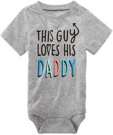 First Impressions Love Daddy Cotton Bodysuit, Baby Boys, Created for Macy's