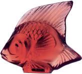 Lalique Glass fish ornament, Red