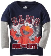 Sesame Street Boys 2-7 Elmo Cool and Cute Long Sleeve Tee