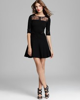 Erin Fetherston ERIN Three Quarter Sleeve Lace and Mesh Dress - Adalyn