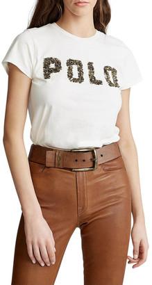 Polo Ralph Lauren Beaded-Logo Cotton Tee
