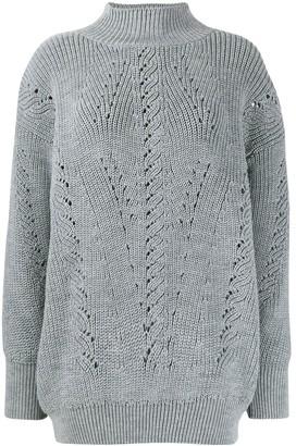 Alberta Ferretti High Neck Sweater