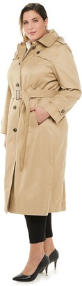 Plus Size TOWER by London Fog Water-Resistant Trench Coat