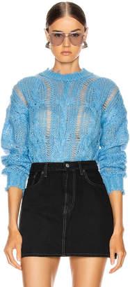 Acne Studios Kella Cable Sweater in Sky Blue | FWRD