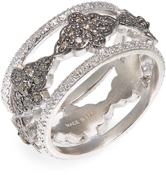 Armenta New World Diamond Scroll Band Ring