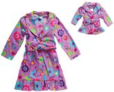 Dollie & Me Girls 4-14 Print Long-Sleeved Bath Robe