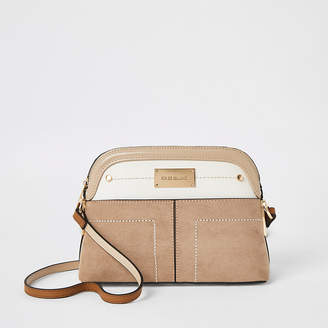 River Island Beige pocket front cross body bag
