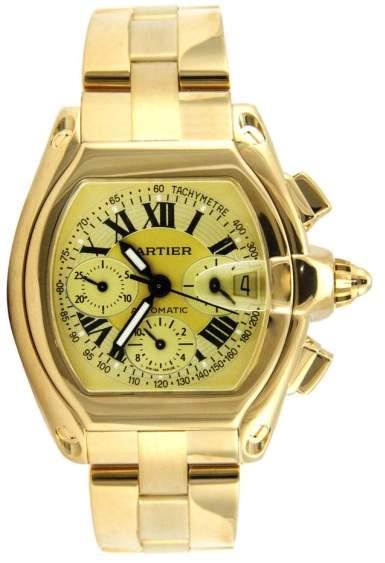 Cartier Roadster XL Chronograph Yellow Gold