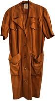 Loewe Orange Suede Dress for Women Vintage