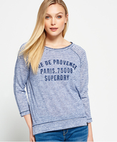 Superdry Harbour Stripe Graphic Top
