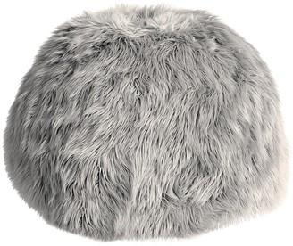 Pottery Barn Teen Himalayan Faux-Fur Gray Bean Bag Chair