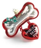 "Kurt Adler Noble Gems ""World's Best Dog"" Christmas Ornament"