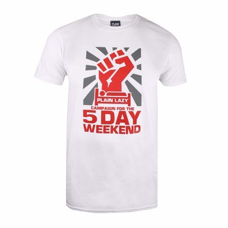 Plain Lazy Men's 5 Day Weekend Short Sleeve T-Shirt