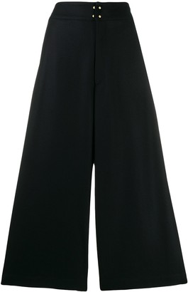 Zucca wide leg cropped trousers