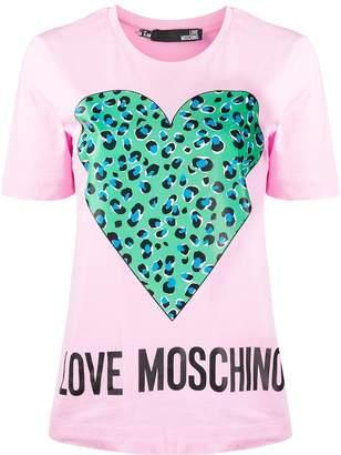 Love Moschino heart-print T-shirt