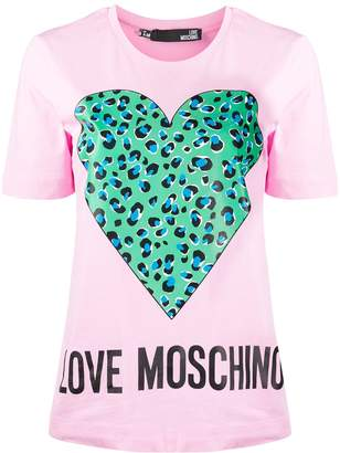 Love Moschino heart-print T-shirt