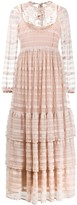 RED Valentino Tiered Open-Back Long Dress