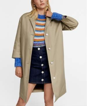 MANGO Leandra Medine Detachable Gilet Trench Coat