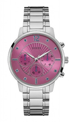 GUESS Women's Multi dial Quartz Watch with Stainless Steel Strap W0941L3