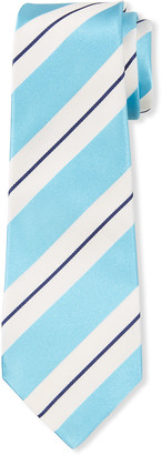 Kiton Men's Large Satin Stripe Tie
