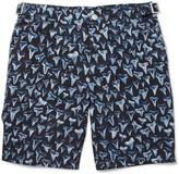 Paul Smith Mid-Length Shark Tooth-Print Swim Shorts