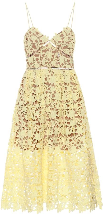 Self-Portrait Azaelea floral lace midi dress
