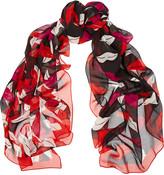 Diane von Furstenberg Eaden printed silk and cotton-blend scarf