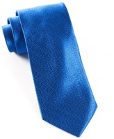 The Tie Bar Royal Blue Herringbone Tie