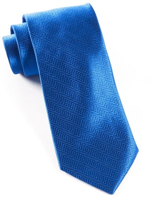 Tie Bar Herringbone Royal Blue Tie