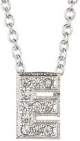 "Nadri Pave ""E"" Initial Pendant Necklace"
