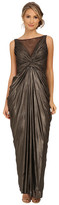 Adrianna Papell Sleeveless Shirred Liquid Jersey Gown