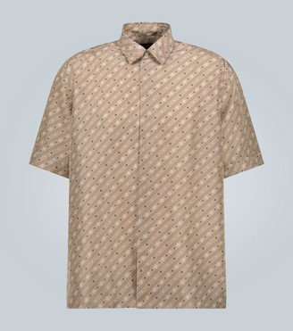 Fendi Silk logo-patterned shirt