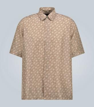 Fendi Silk logo-patterned shirt