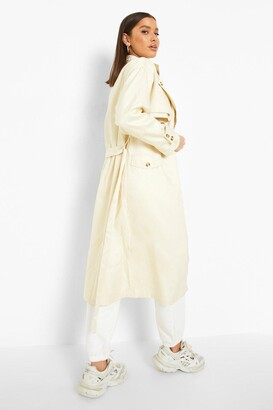 boohoo Double Layer Trench Coat