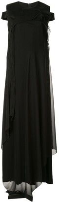 Yang Li Cold Shoulder Maxi Dress