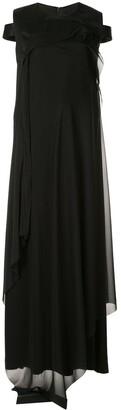 Yang Li cold shoulder maxi dress
