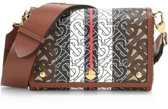 Burberry Hackberry Monogram Stripe Crossbody Bag