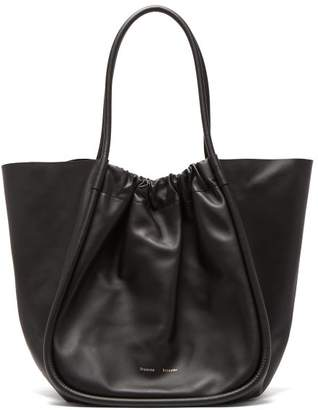 Proenza Schouler Ruched Xl Leather Tote Bag - Womens - Black