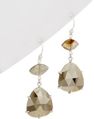 Chan Luu Pyrite Handcrafted Drop Earrings