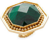 Stephanie Kantis Women's 18K Goldplated & Malachite Button Ring