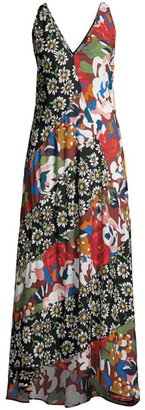 M Missoni Patchwork Floral Maxi Dress