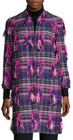Milly Tweed Fringe Trim Coat
