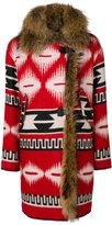 Bazar Deluxe - native-inspired coat - women - Nylon/Wool/Virgin Wool - 44
