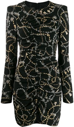 Pinko chain print fitted dress