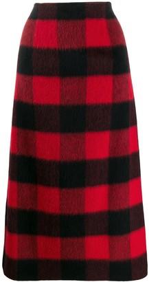 DSQUARED2 Check Midi Skirt