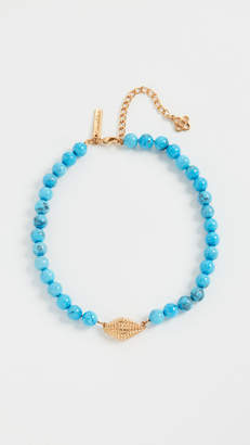 Oscar de la Renta Bead & Shell Necklace