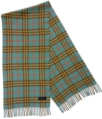 Burberry Turquoise Cashmere Scarves