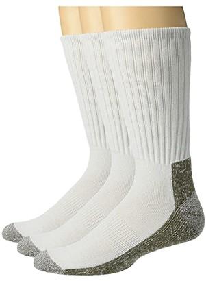 Sof Sole Crew Work Socks 3-Pack (White) Men's Crew Cut Socks Shoes