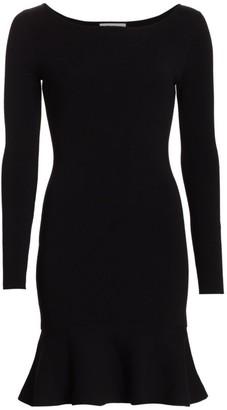 Bailey 44 Tara Long-Sleeve Ruffle-Hem Dress